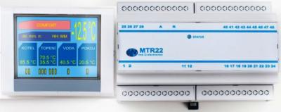 Dvouokruhový  ekvitermní regulátor kotle a TUV   MTR22